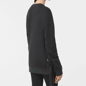 ALL SAINTS Leti Lace-Up Sweatshirt